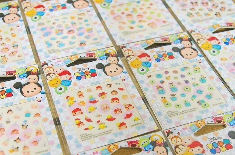 【真愛日本】TSUM指甲貼  美甲貼紙  指甲彩繪 奇蒂 史迪奇 玩具總動員 冰雪奇緣 維尼