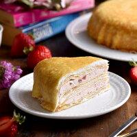 媒體推薦父親節蛋糕推薦到父親節蛋糕【塔吉特】草莓甜心千層(8吋)★就在塔吉特推薦媒體推薦父親節蛋糕