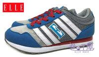 【巷子屋】ELLE 女款法式經典復古潮流運動慢跑鞋 記憶鞋墊 [60058] 灰藍 超值價$498 0