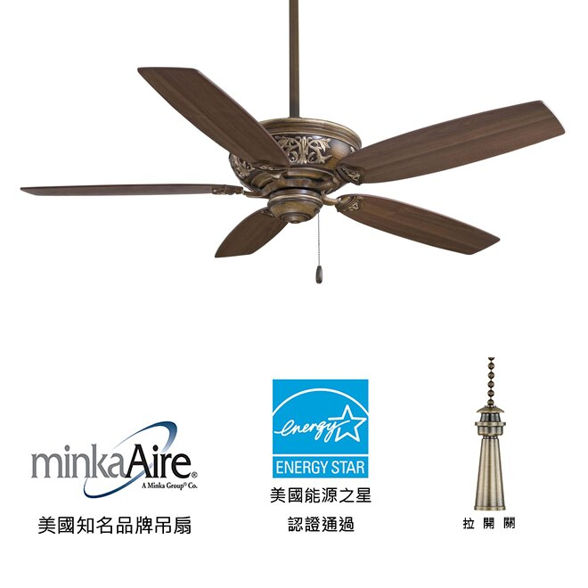 <br/><br/>  [top fan] MinkaAire Classica 54英吋能源之星認證吊扇(F659-BCW)貝克羅核桃木色<br/><br/>