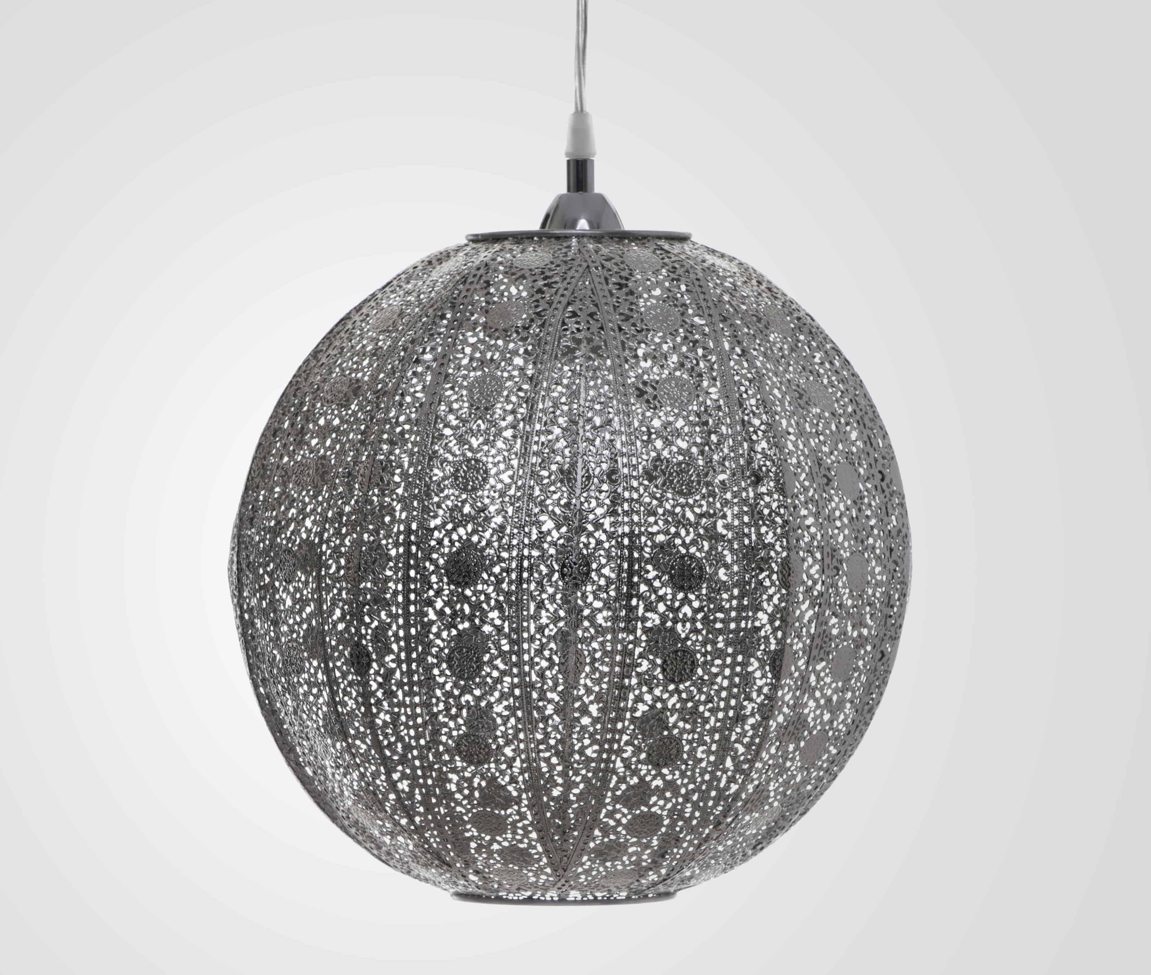 亮鎳蕾絲花邊圓形吊燈-BNL00076 0