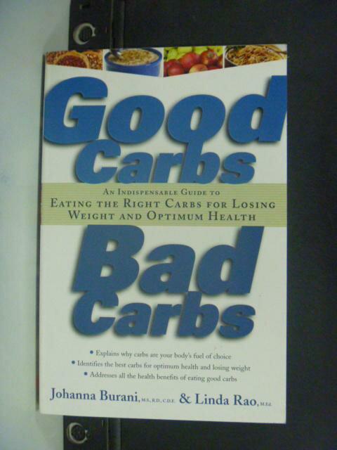 【書寶二手書T8/養生_HFU】Good carbs, bad carbs_Johanna Burani