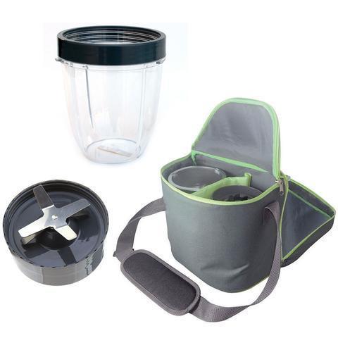 NutriBullet Extractor Blade 600W 900W + 18oz Short Cup + Insulated Travel Bag Bundle 6521d43939ca8cd5d089a0bbd9d0032c