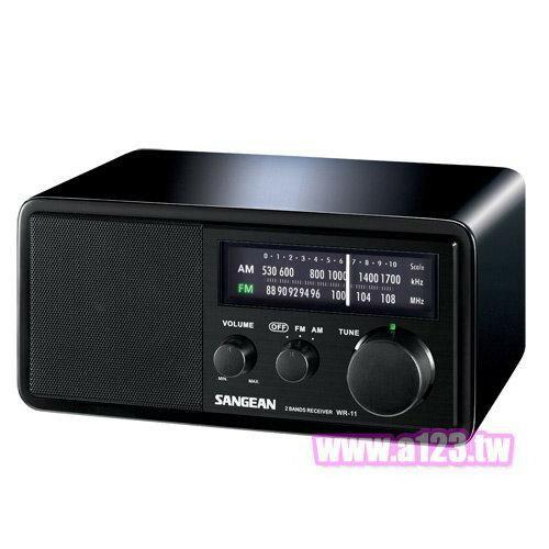 SANGEAN山進 二波段 復古收音機 調頻 / 調幅 WR-11