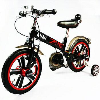【淘氣寶寶】英國原廠授權Mini Cooper 兒童腳踏車14吋(黑)【贈純植物精油防蚊液 60ml】