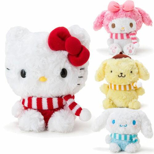 日本聖誕節限定KITTY美樂蒂布丁狗大耳狗可錄音搖擺玩偶娃娃785973