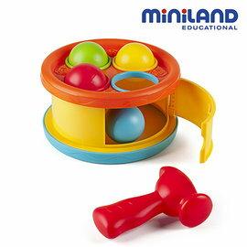 【淘氣寶寶】【西班牙Miniland】敲敲球咚咚鼓組
