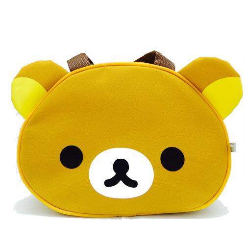 【真愛日本】16122200001頭型手提袋-懶熊  SAN-X 懶熊 奶熊 拉拉熊 手提袋  便當袋 正品
