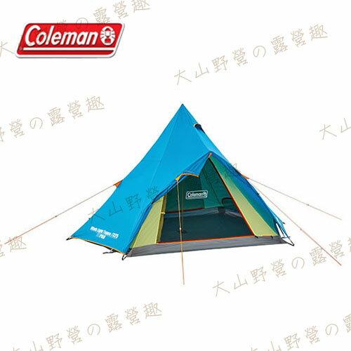 【露營趣】中和安坑 Coleman CM-22044 WINDS LIGHT 印地安帳篷 蒙古包 防蚊帳 塔帳 4-5人帳篷