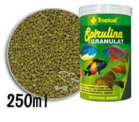 [第一佳水族寵物]波蘭德比克Tropical高蛋白淡海水螺旋藻飼料(緩沉圓片狀)[250ml]免運