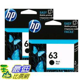 ^~COSCO 如果沒搶到鄭重道歉^~ HP 63XL 黑色墨水匣 兩入裝 _W11108