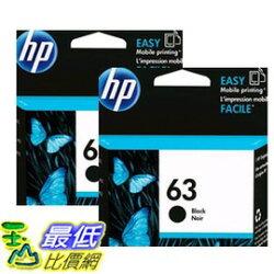[COSCO代購 如果售完謹致歉意] HP 63XL 黑色墨水匣 兩入裝 _W111082