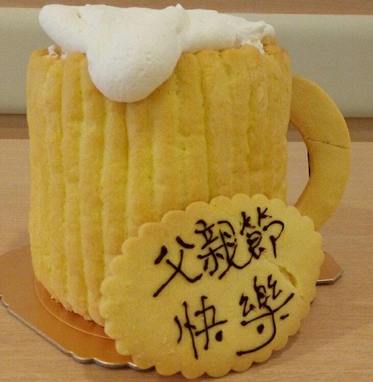 父親節蛋糕  88節啤酒 蛋糕  繽紛水果手指蛋糕  歐牧鮮奶油  水果蛋糕  鮮奶油