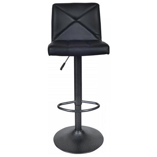 Black 2 PU Leather Modern Adjustable Swivel Barstools Hydraulic Chair Bar  Stools 2