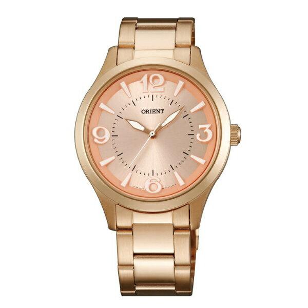 Orient 東方錶(FQC0T001Z)玫瑰金優雅腕錶/玫瑰金面38.5mm