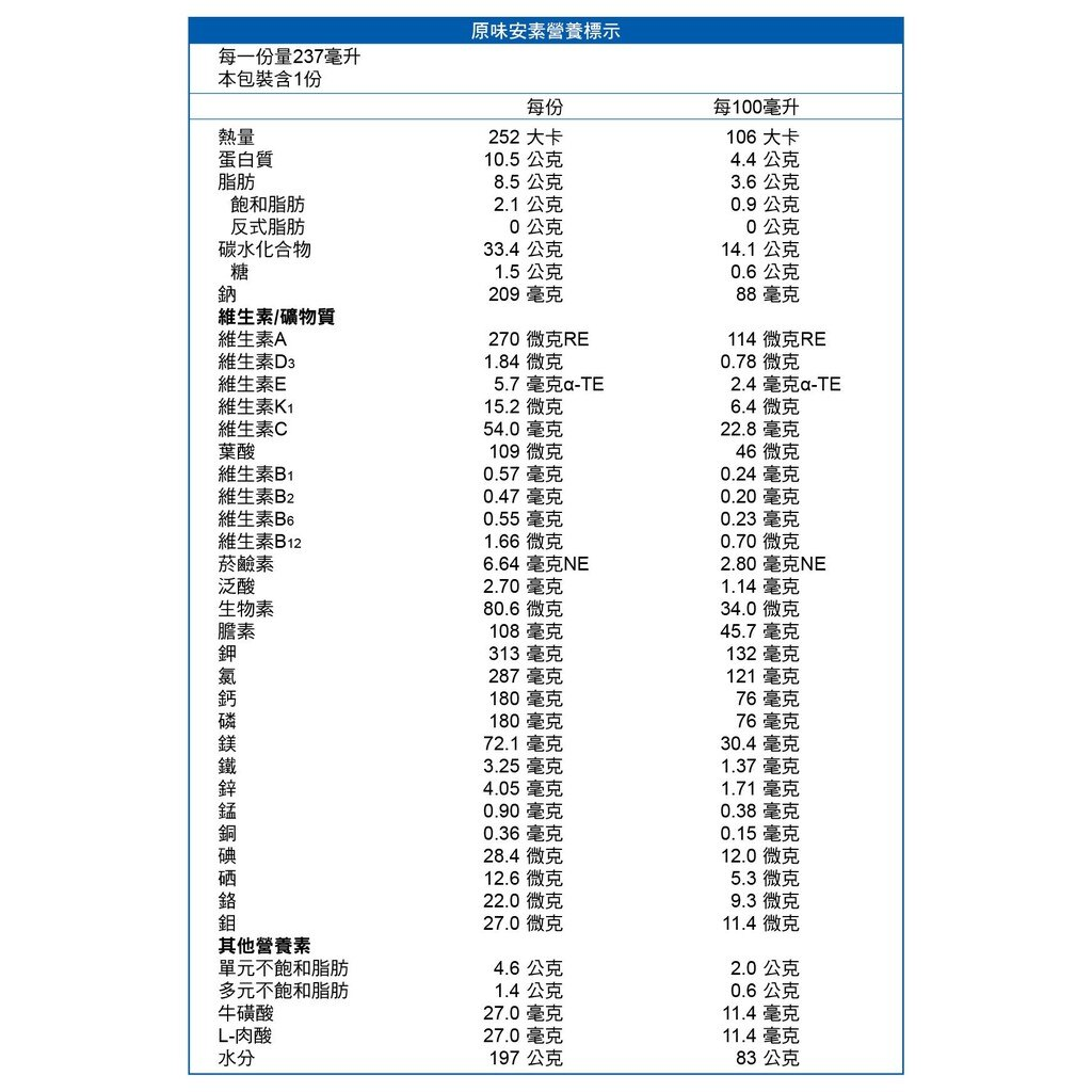 亞培 原味安素 (237ml / 罐- / 24罐 / 箱)【杏一】 1