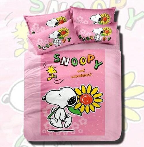【名流寢飾家居館】Snoopy史努比.向日葵.單人薄被套.全程臺灣製造