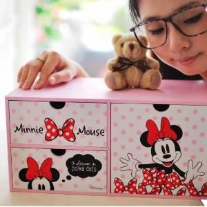 美麗大街【105051017】迪士尼米妮造型長型三層櫃 收納盒
