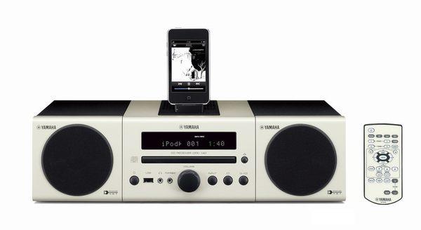 【集雅社】福利出清 YAMAHA MCR-140 小型 iPod/CD 組合音響 無線傳輸.iPod.USB.MP3 (白色) 公司貨