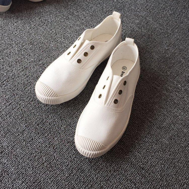 【極簡時尚】復古水洗帆布鞋丨5色 35-40丨學生鞋丨平底鞋丨情侶鞋丨小白鞋丨現貨+預購 ❤ 超取免運 ❤ 5