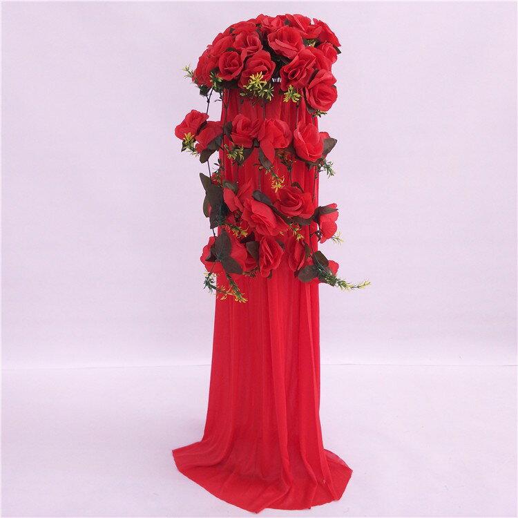 中式婚禮布置結婚花柱花拱門羅馬柱t臺裝飾道具路引婚慶新款2018 5