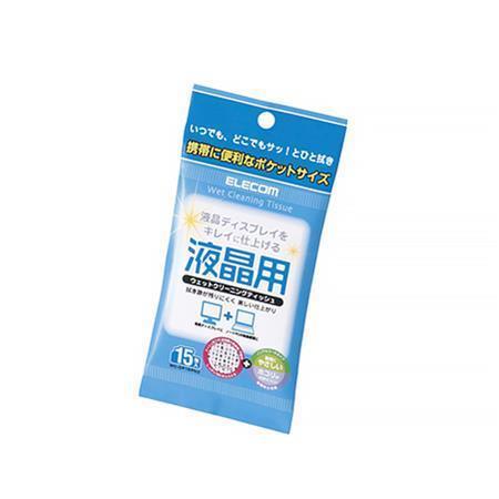 沃克時尚生活 ELECOM 液晶螢幕擦拭巾Ⅲ/ 無酒精/ 15P