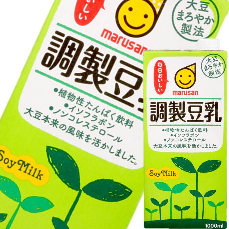 【MARUSAN丸三】每日美味调制豆乳-精选无糖/浓郁原味/低卡低糖 1L  日本国民饮料 进口饮料