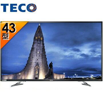 TECO 東元 TL43U1TRE 43吋 4K 液晶顯示器+視訊盒 Smart連網 - 限時優惠好康折扣