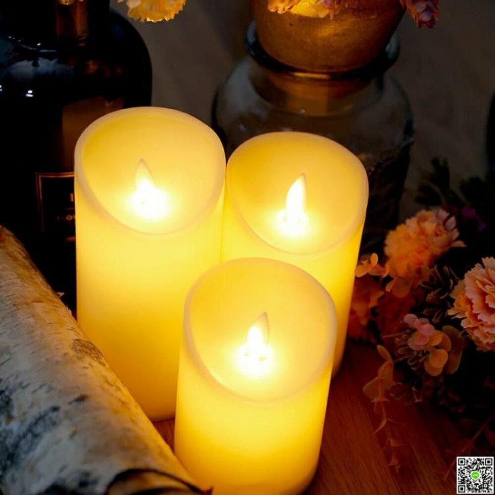 led電子蠟燭燈搖擺燈芯仿真蠟燭燈假蠟燭婚慶浪漫表白引路燈MKS 清涼一夏钜惠