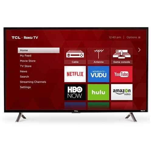 "TCL S 32S305 32"" 720p LED-LCD TV - 16:9 - 1366 x 768 - Dolby Digital Plus - 5 W RMS - LED Backlight - Smart TV - 3 x HDMI - USB - Ethernet - Wireless LAN - PC Streaming - Internet Access 0"