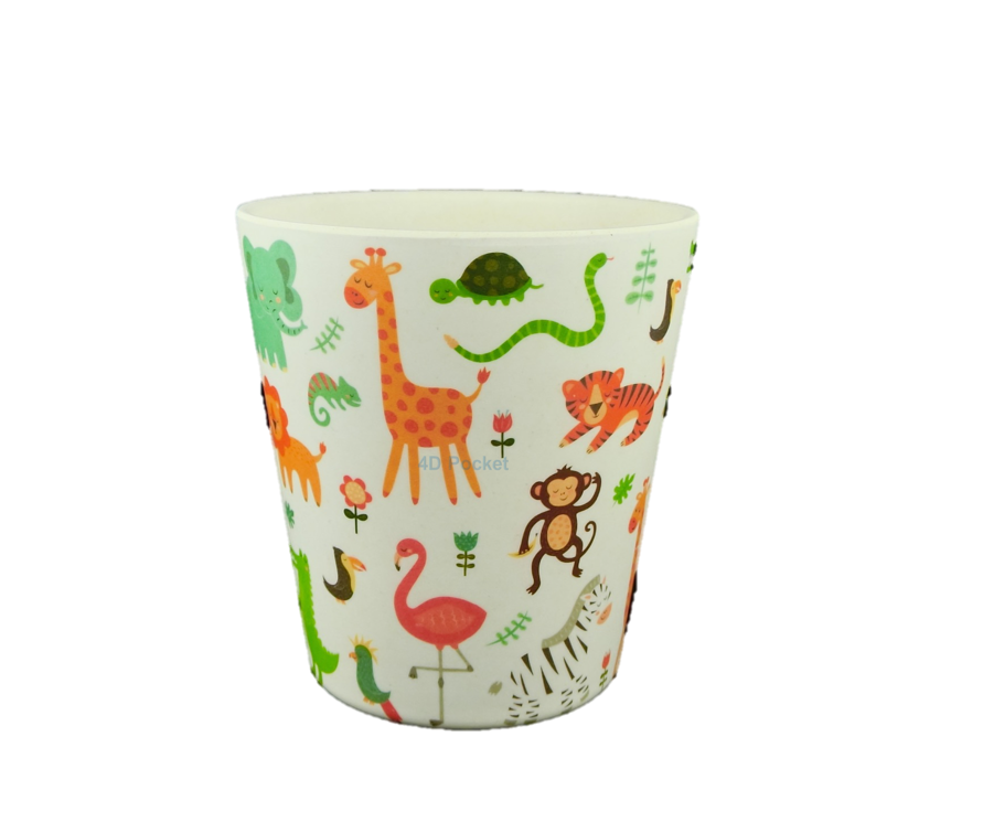 4D Pocket 可愛動物 天然竹纖維 兒童杯  250ml