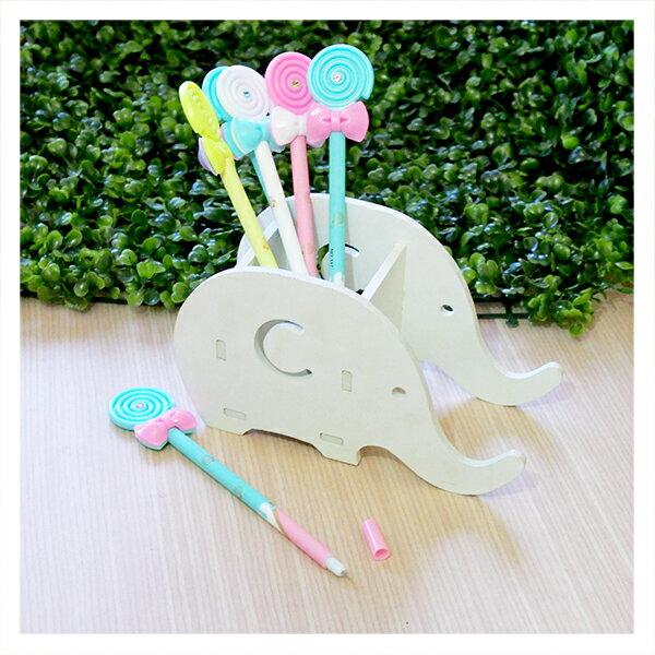 【aifelife】蝴蝶結棒棒糖筆簽名筆廣告筆可愛學生原子筆中性筆婚禮小物開學禮贈品禮品