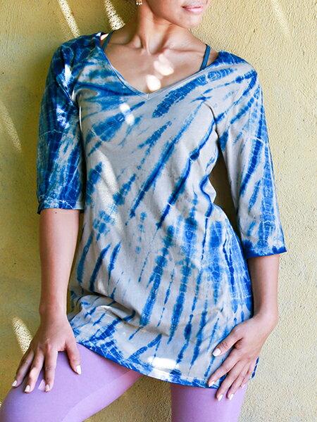 【Bali】100%有機棉A字長版T恤 0