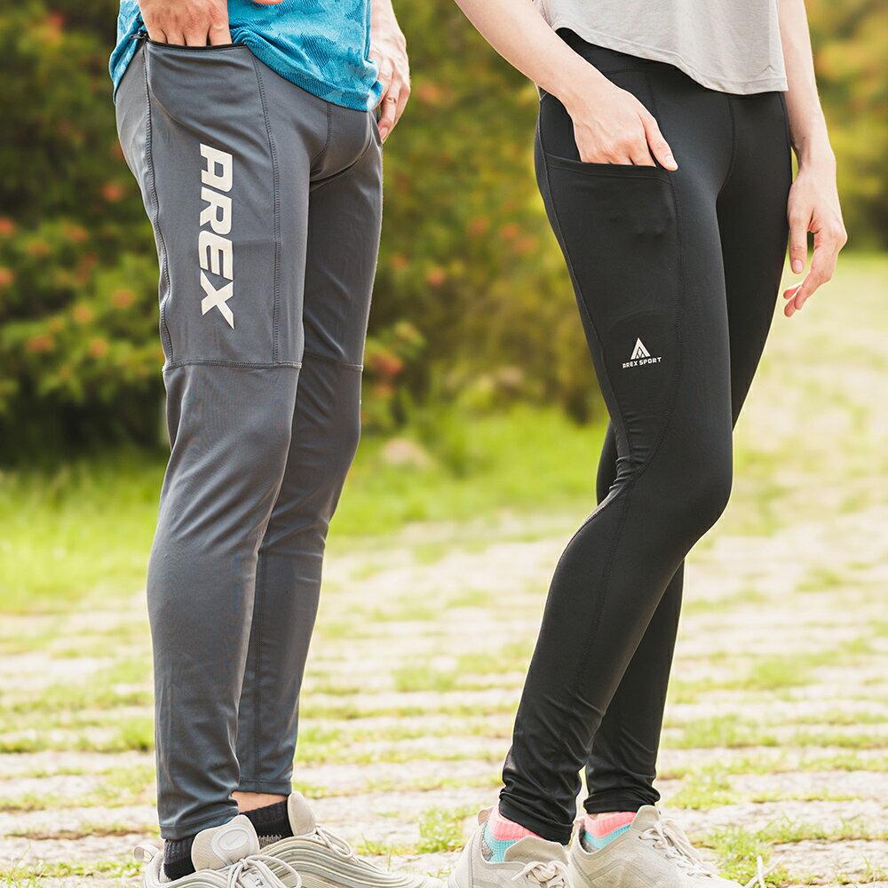 AREXSPORT機能收納男收腹彈力吸排高腰緊身運動褲 AS-7157 黑 S~2L (健身 / 健走 / 戶外休閒 / 重訓 / 瑜珈) 2