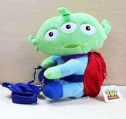 =優生活=玩具總動員3 三眼怪側背包 斜肩包 抱抱腰包 兒童包包 錢包