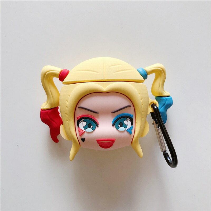 **台灣現貨** 小丑女 哈莉奎茵airpods1/2代通用  矽膠保護套 矽膠產品