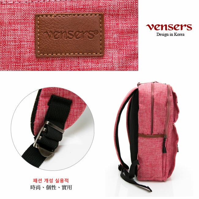 【vensers】 簡約丹寧牛仔後背包 (R00066104粉色) 4