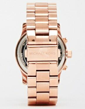 美國Outlet 正品代購 Michael Kors MK 三環 螢光紫精鋼 滿鑽 手錶 腕錶 MK6163 5