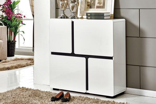 尚品傢俱:【尚品傢俱】JF-304-2卡司3.3尺白色鞋櫃
