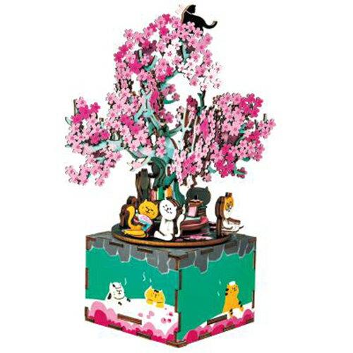《Robotime》木製 音樂盒 AM409 櫻花樹  東喬精品百貨