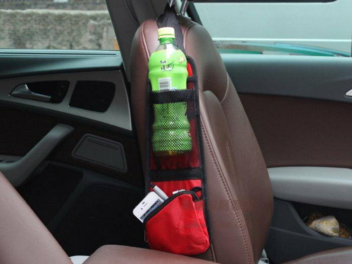 約翰家庭百貨》【Q331】汽車椅側多功能置物袋 收納袋 雜物袋 隨機出貨