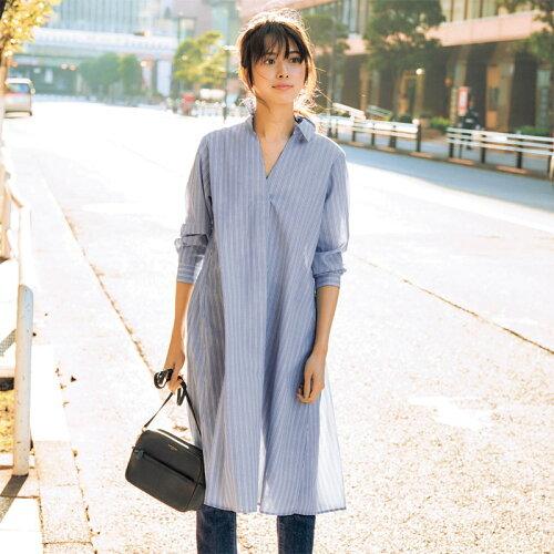 日本簡約長版襯衫