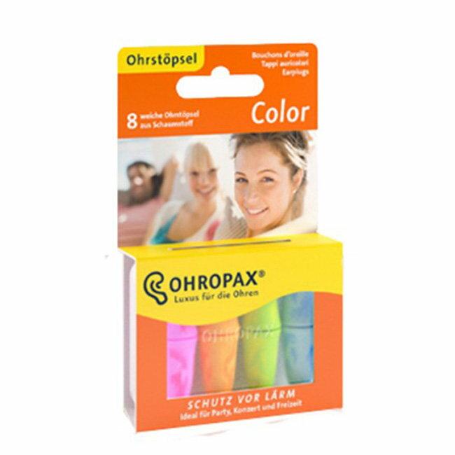 德國 Ohropax Color 隔音消音抗噪舒適耳塞 CE歐盟認證 20616