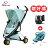 【贈提籃+專用杯架+搖搖椅】荷蘭【Quinny】Zapp Xtra2 Miami嬰兒推車(黑管藍) 0
