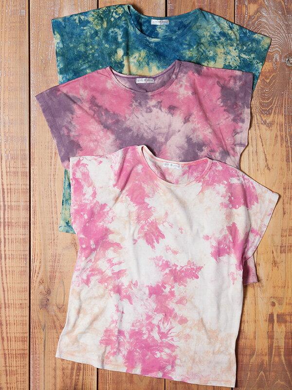 【Bali】100%有機棉自然紮染T恤 7