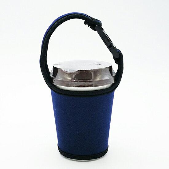 ♚MYCOLOR♚手搖飲料杯套奶茶咖啡杯通用布套潛水料環保手提袋限塑提袋【P130】