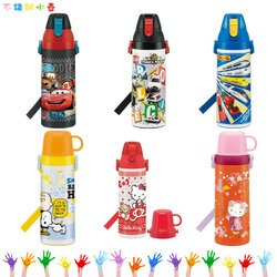汽車總動員 凱蒂貓 史努比 鐵道王國 TOMICA 超輕量不鏽鋼水壺 保溫瓶 保溫杯 日本進口正版