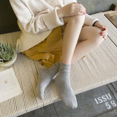網紅款堆堆襪女日系秋冬襪子純棉款女士襪子純色學院風百搭中筒襪 0