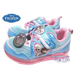【巷子屋】DISNEY迪士尼 冰雪奇緣女童超光束電燈造型運動休閒鞋 [54136] 水藍 超值價$198