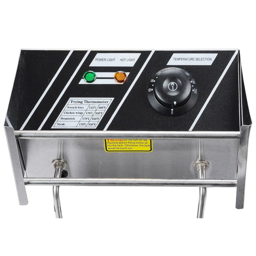12L Electric Dual Tank Deep Fryer 5000W Commercial Restaurant Kitchen Countertop Equitment 1
